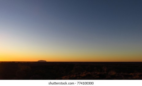 Panorama of the Australian Outback Featuring Uluru (a.k.a Ayers Rock)