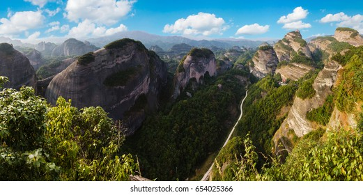 Panorama of Bajiaozhai National Forest Park in Hunan province, China