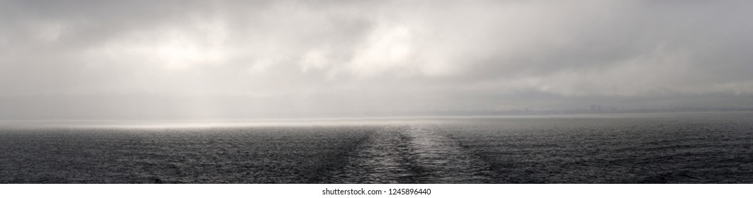 Panorama of the Baltic Sea, cloudy weather