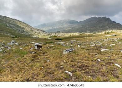 Panorama from Banderitsa pass to Spano Pole,  Pirin Mountain, Bulgaria