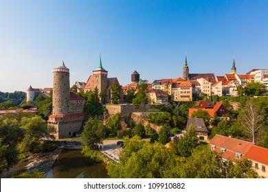 Panorama of Bautzen (Budysin) in Upper Lusatia, Germany