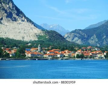 Panorama of Baveno. Lake Maggiore, Piedmont, Italy