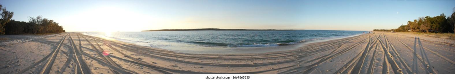 Panorama of Beach and Ocean