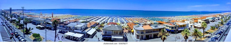 Panorama beach viareggio