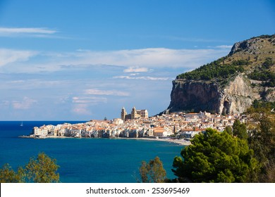 Panorama of the beautiful city of Cefalu�, Sicily, Italy, with its famous church