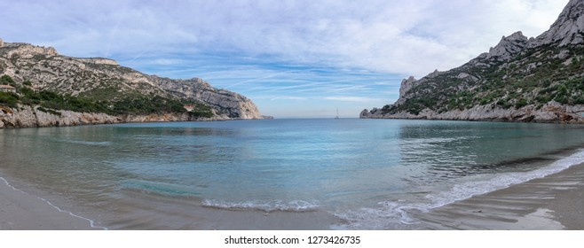 Panorama of a beautiful and famous creek in France - Marseille Calanque of Sormiou