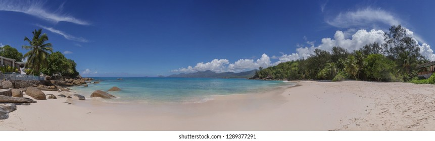 Panorama beautiful view of Seychelles