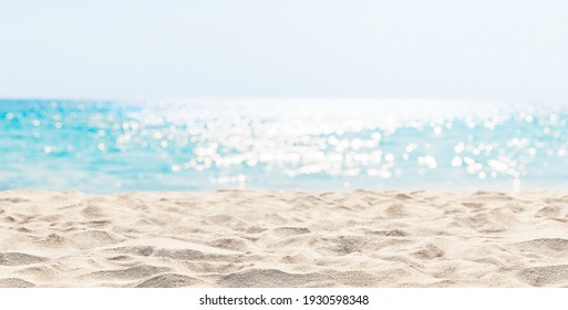Panorama of a beautiful white sand beach and turquoise water in Maldives. Holiday summer beach background.. Wave of the sea on the sand beach. - Shutterstock ID 1930598348