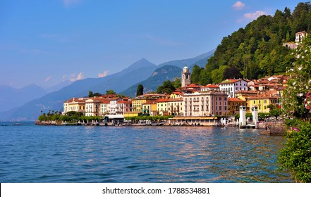 panorama of Bellagio lake Como Italy