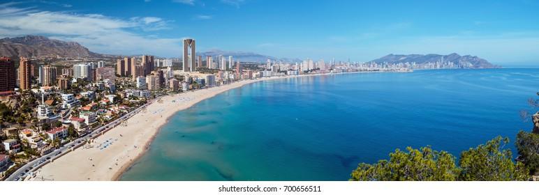 Panorama of Benidorm in Spain