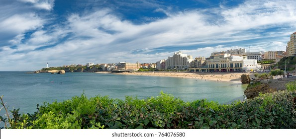 a panorama of Biarritz city in France