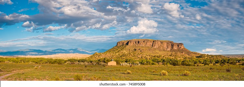 Panorama of Black Mesa at San Ildefonso Pueblo - New Mexico Land of Enchantment