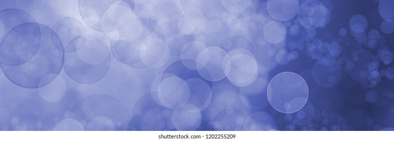 Panorama blurred blue background with sparkling lights