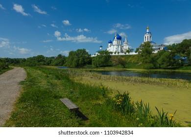 Panorama of Bogolyubsky monastery in Bogolyubovo village, near Vladimir, Russia.