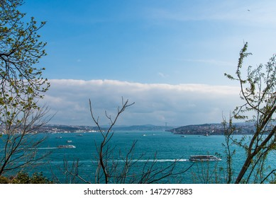 Panorama of Bosphorus strait in Istanbul