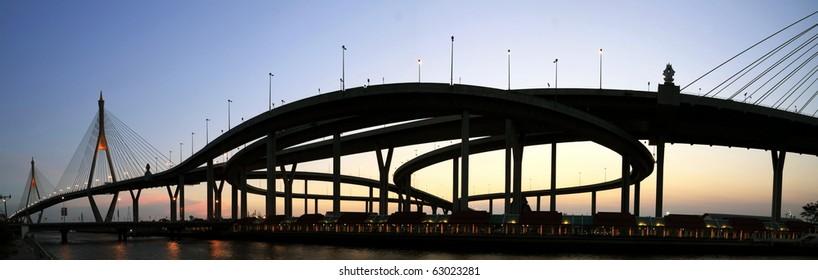 Panorama bridge in Thailand