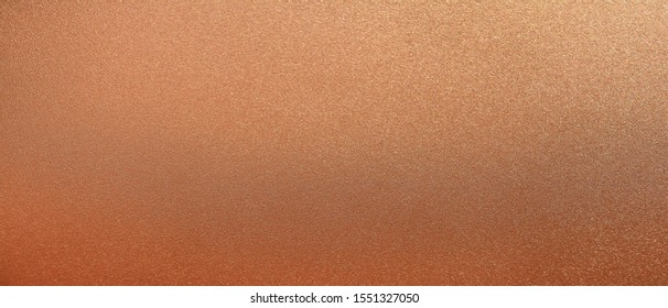 Panorama bronze texture background. Panoramic shiny smooth bronze texture surface. Glitter and glossy copper texture