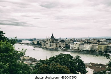 Panorama of Budapest and the Parliament