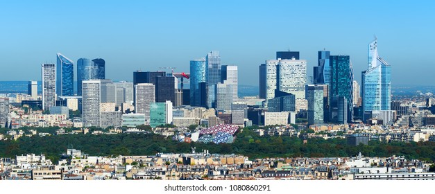 Panorama of the business district of Paris