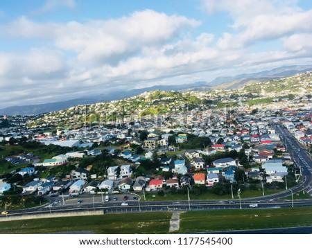 Panorama Busy Urban City Wellington New Stock Photo Edit Now