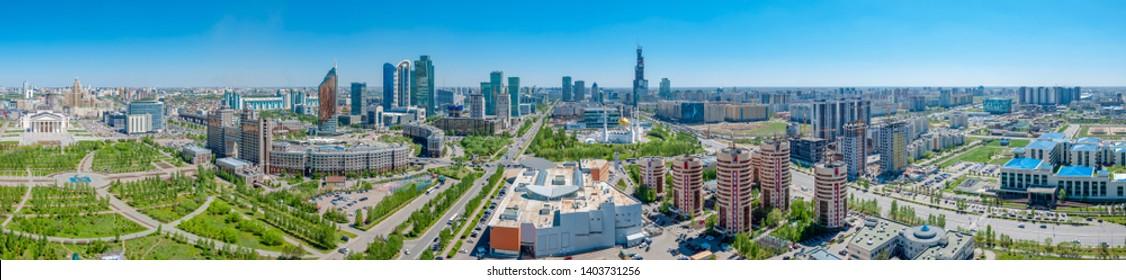 Panorama capital of Kazakhstan Astana landscape