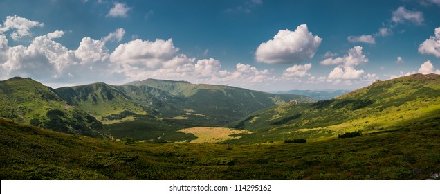 Panorama of Carpathian mountains, Ukraine