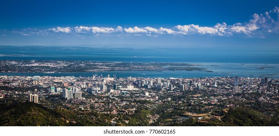 Panorama of Cebu city. Philippines. Cebu is the Philippines second most significant metropolitan centre and main domestic shipping port.