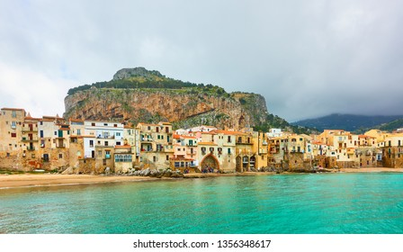 Panorama of Cefalu town in Sicily, Italy