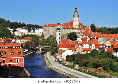 Panorama of Cesky Krumlov.Czech republic