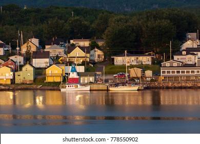 Panorama of Cheticamp, Nova Scotia. Cheticamp, Nova Scotia, Canada.