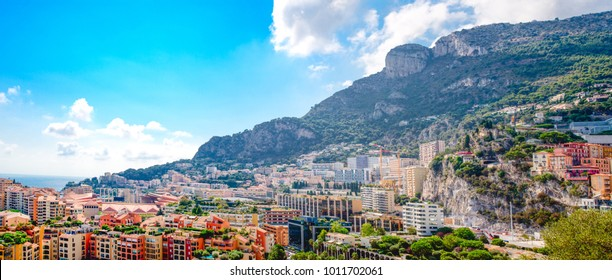 Panorama chic district in the Principality of Monaco.
