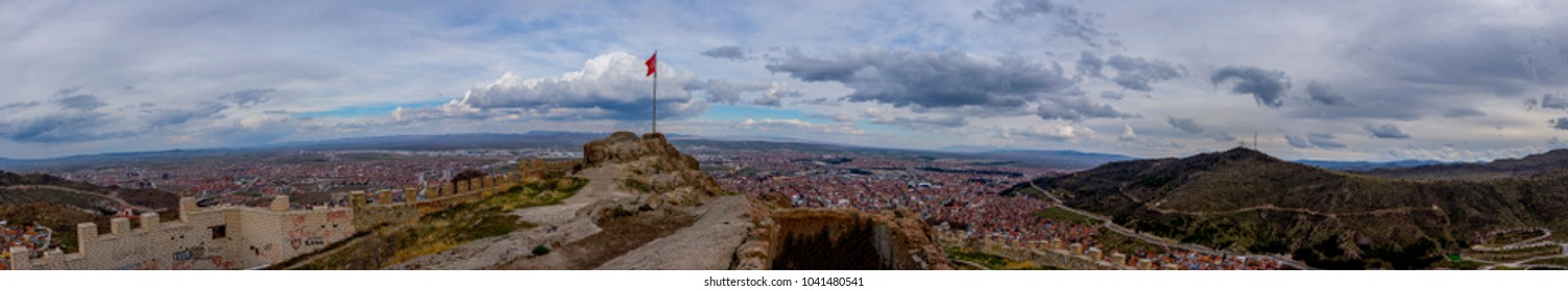 Panorama of the city of Afyonkarahisar from the castle