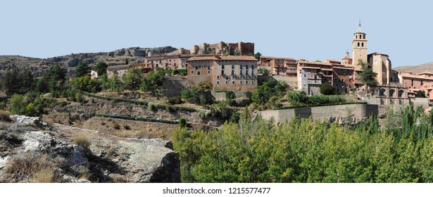 Panorama of the city of Albarracin in Spain.Albarracin is a Spanish town, in the province of Teruel, part of the autonomous community of Aragon.