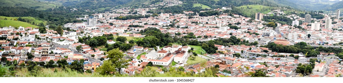 Panorama of city of Amparo, Sao Paulo, Brazil