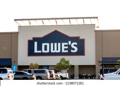 Panorama City, California/USA. July 17, 2018. Lowe's Home Improvement Warehouse exterior. Lowe's is an American chain of retail home improvement stores in the United States, Canada, and Mexico.