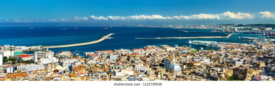 Panorama of the city centre of Algiers, the capital of Algeria