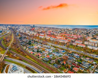 panorama of the city of Gdynia