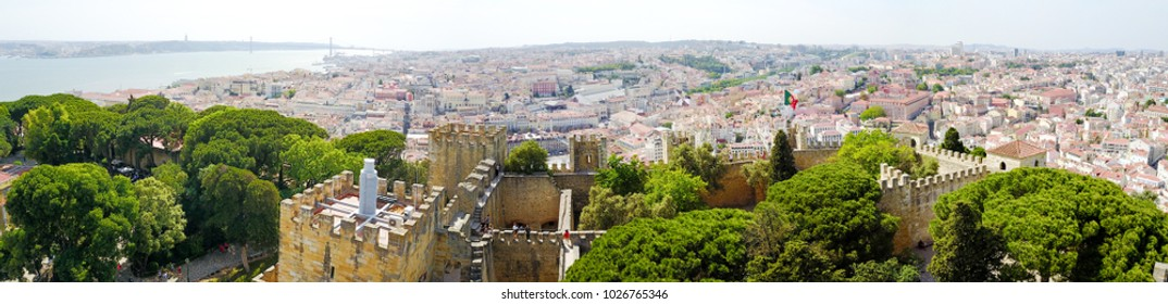 Panorama of the city Lisbon. Castelo de S. Jorge