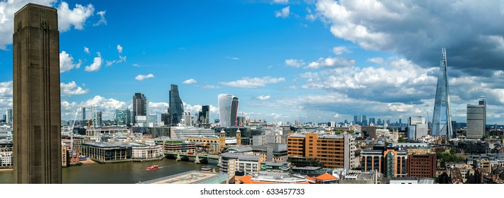 A panorama, City Of London and Canary Wharf