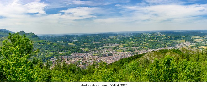 a panorama of the city of Lourdes