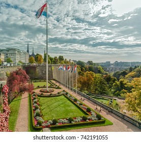 Panorama of the city of Luxembourg. Luxembourg.