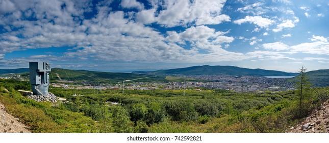 Panorama of the city of Magadan