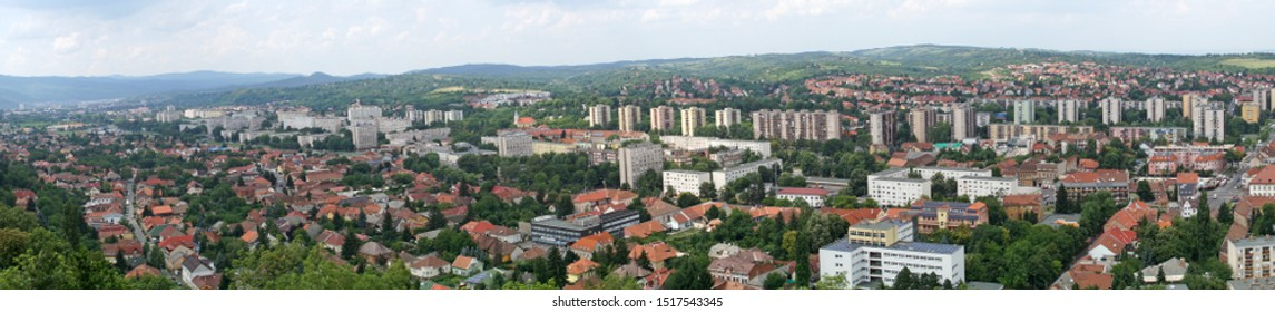 Panorama of the city of Miskolc in the north of Hungary
