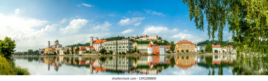 Panorama of the City Passau in Bavaria, Germany