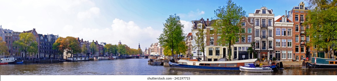 Panorama from city scenic from Amsterdam in the Netherlands