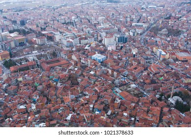"""panorama, city skyline. urban buildings and city center. aerial view of the city. View of the city from """"Afyonkarahisar"""" castle"""