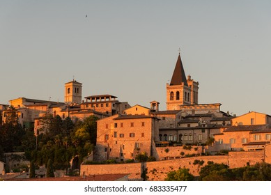 Panorama of the city of Spello in Umbria Central Italy in the province of Perugia