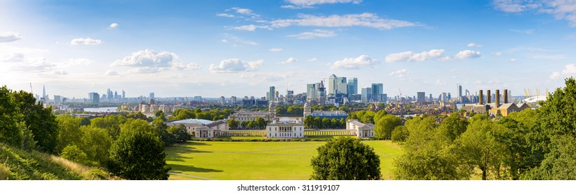 Panorama Cityscape View from Greenwich, London, England, UK