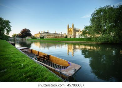 Panorama of Clare College in Cambridge, UK