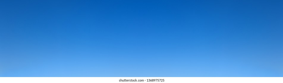 panorama of a cloudless sky above the horizon with a gradient of brightness